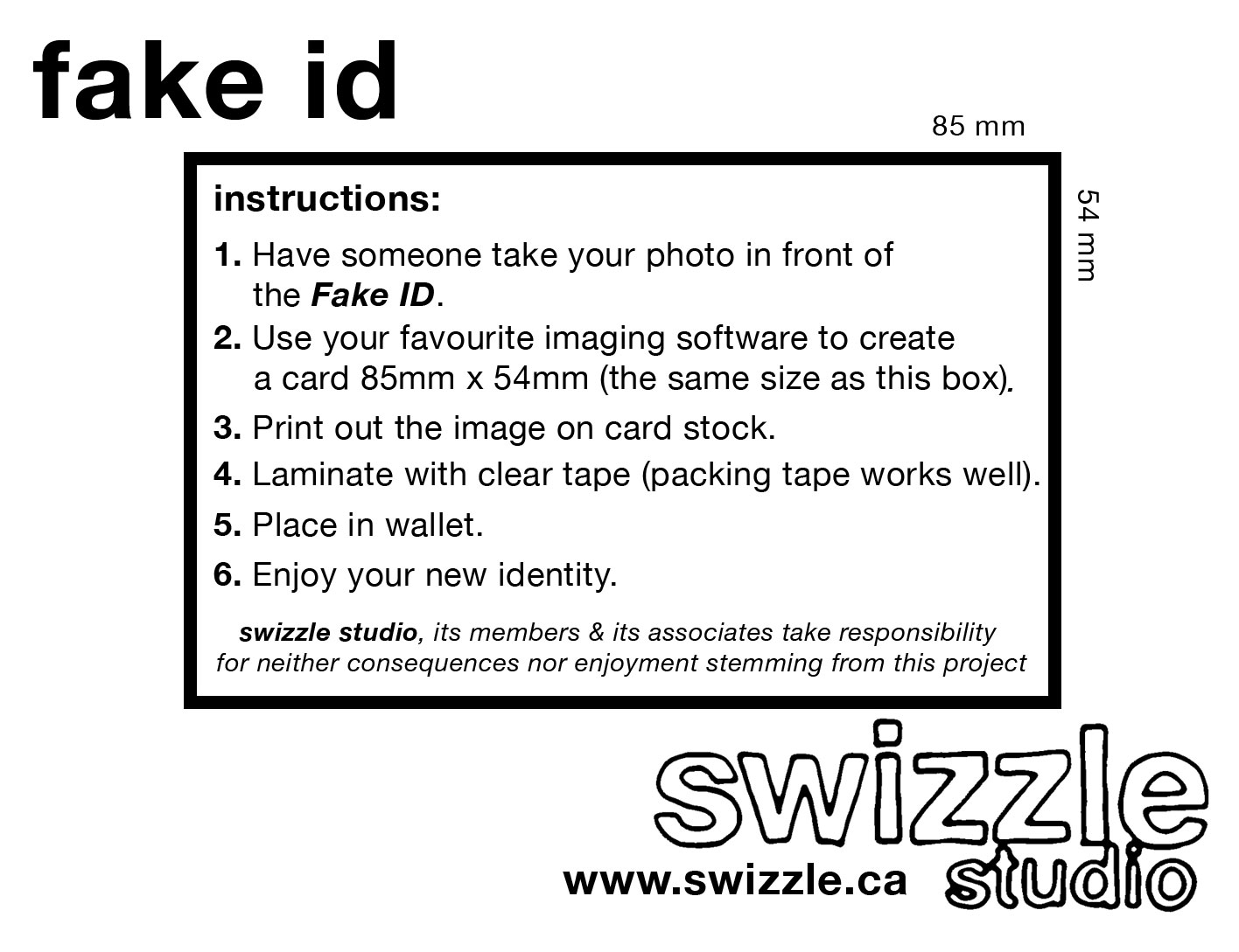 photograph relating to Printable Fake Ids identified as Bogus Identification: A Participatory Set up by way of Swizzle Studios